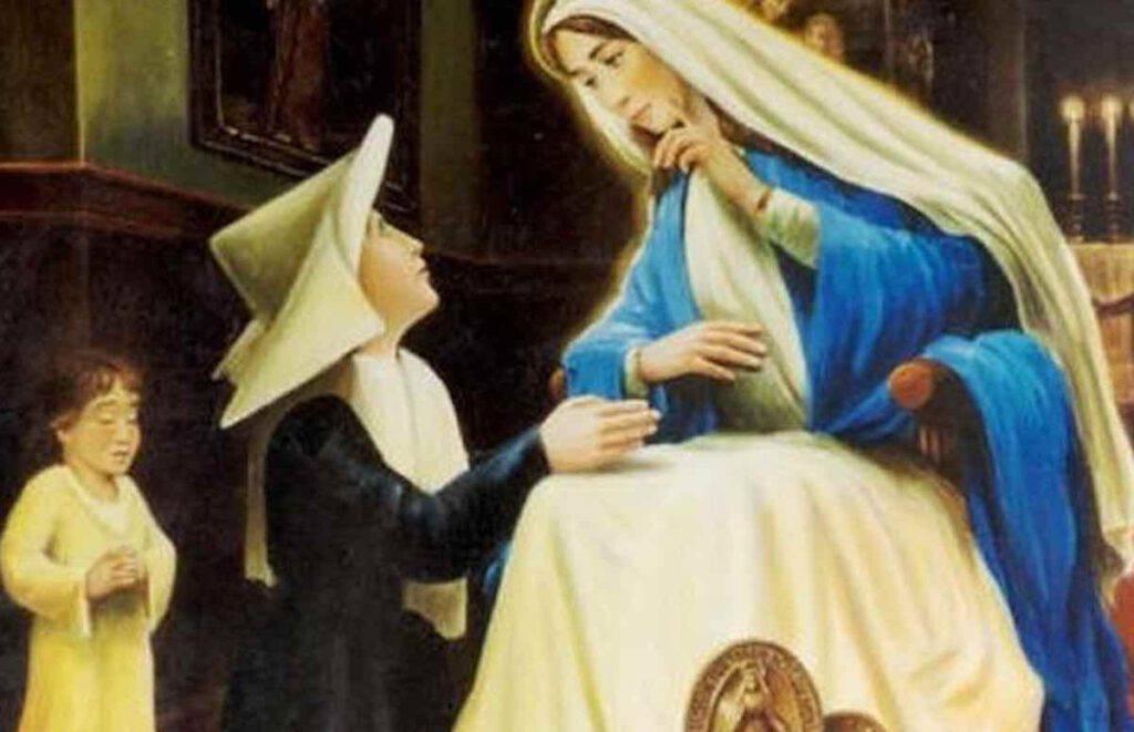 La prima apparizione della Vergine a Santa Caterina Labouré a Rue du Bac