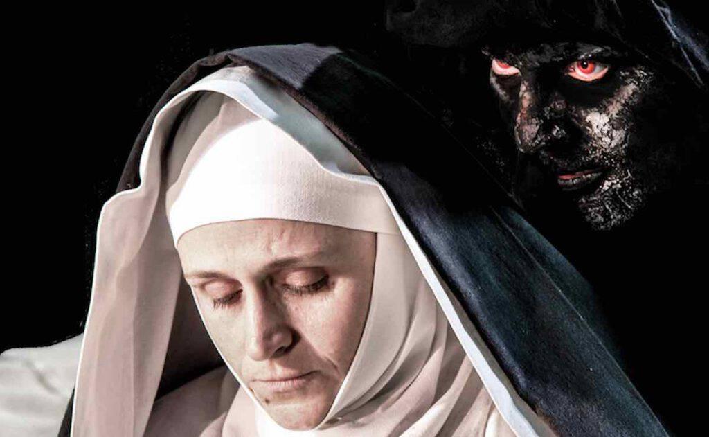 Santa Veronica combatte contro il diavolo