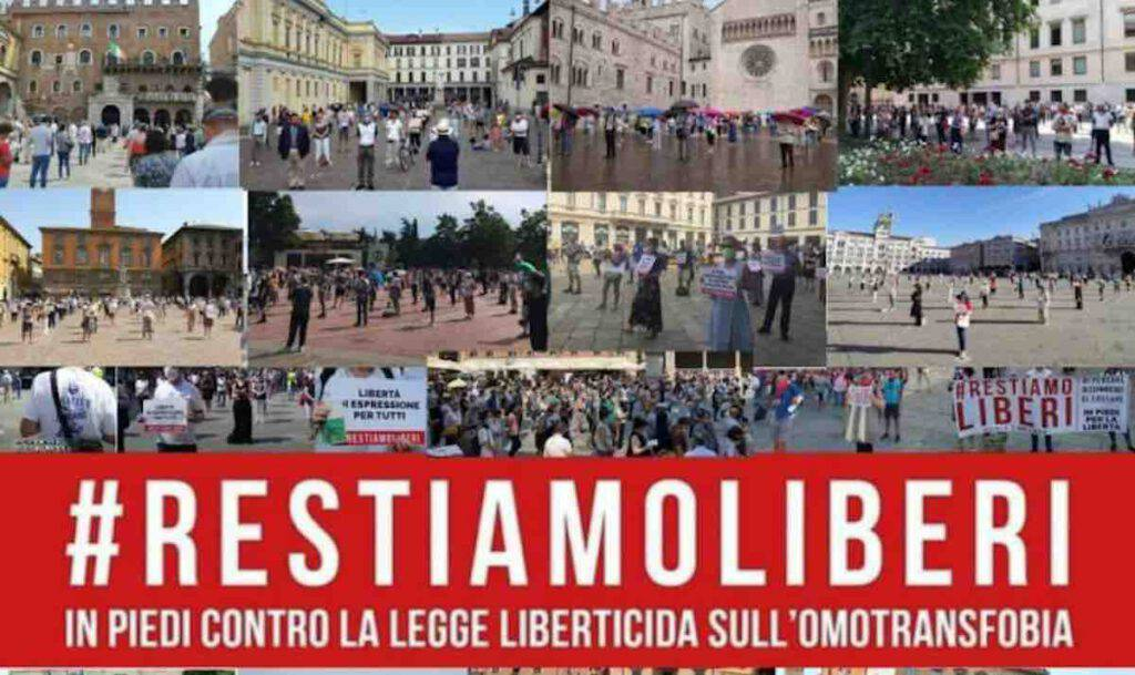 Ddl Zan: tutti piazza per l libertà sabato 17 ottobre