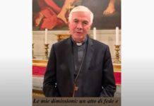 Mons. D'Ercole: annuncia in un video le sue dimissioni