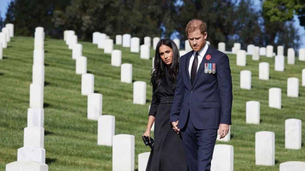 Meghan Markle col marito al cimitero