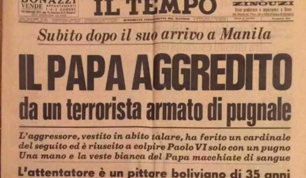 Paolo VI, cinquant'anni fa l'attentato