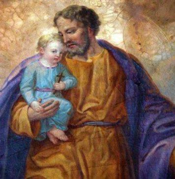 San Giuseppe con Gesù Bambino in braccio