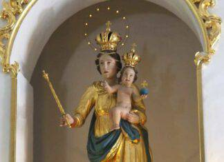 KUREŠČEK Madonna Regina della Pace