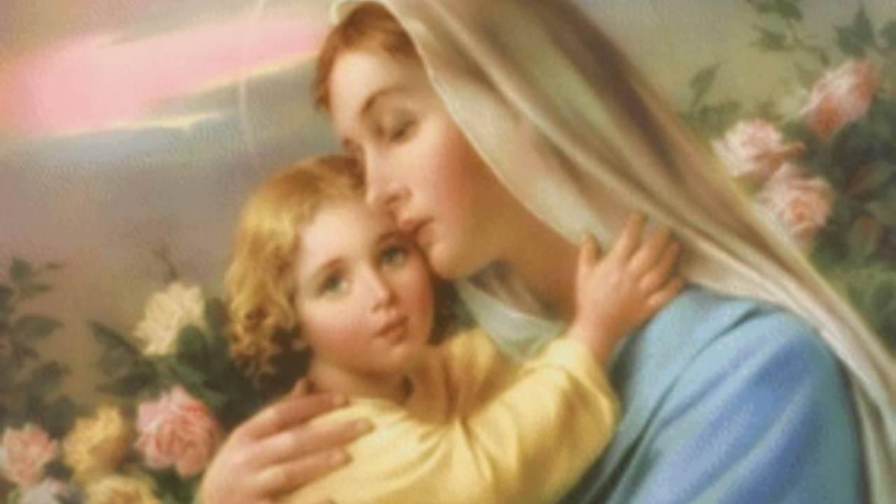 Maria ninna nanna a Gesù bambino