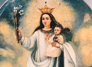 madonna nube Ecuador processione