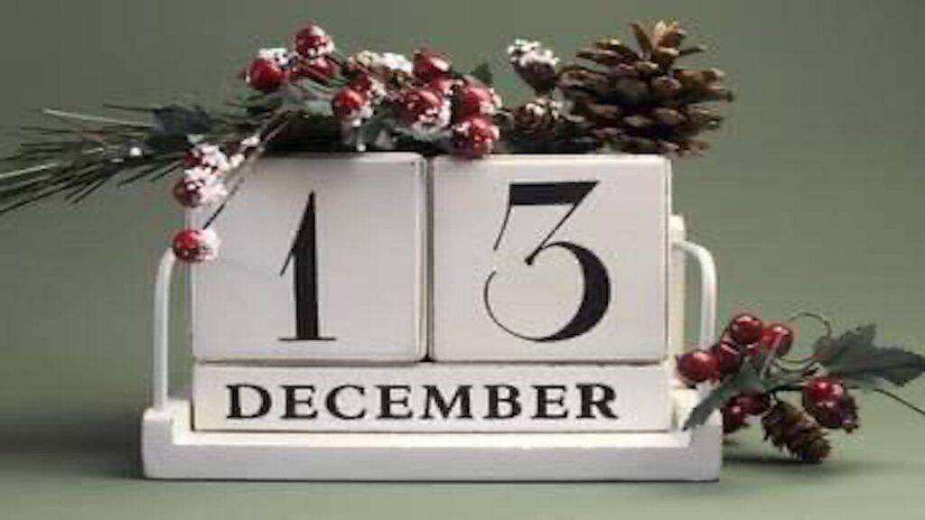 Calendario di Avvento: il proposito di oggi 13 dicembre 2020