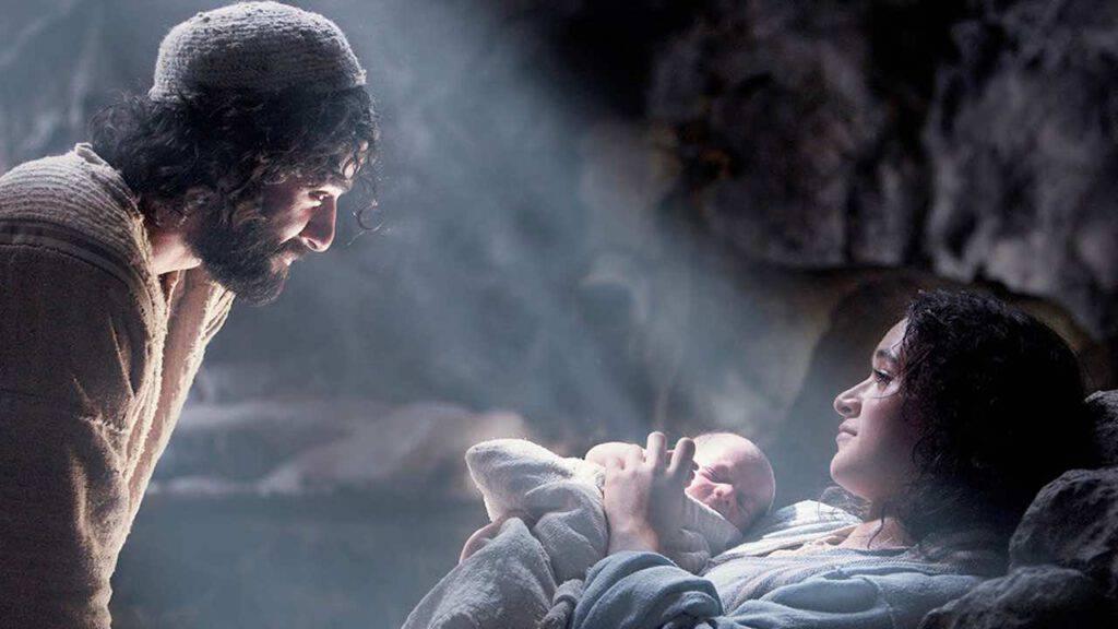 Nascita di Gesù con Maria e Giuseppe