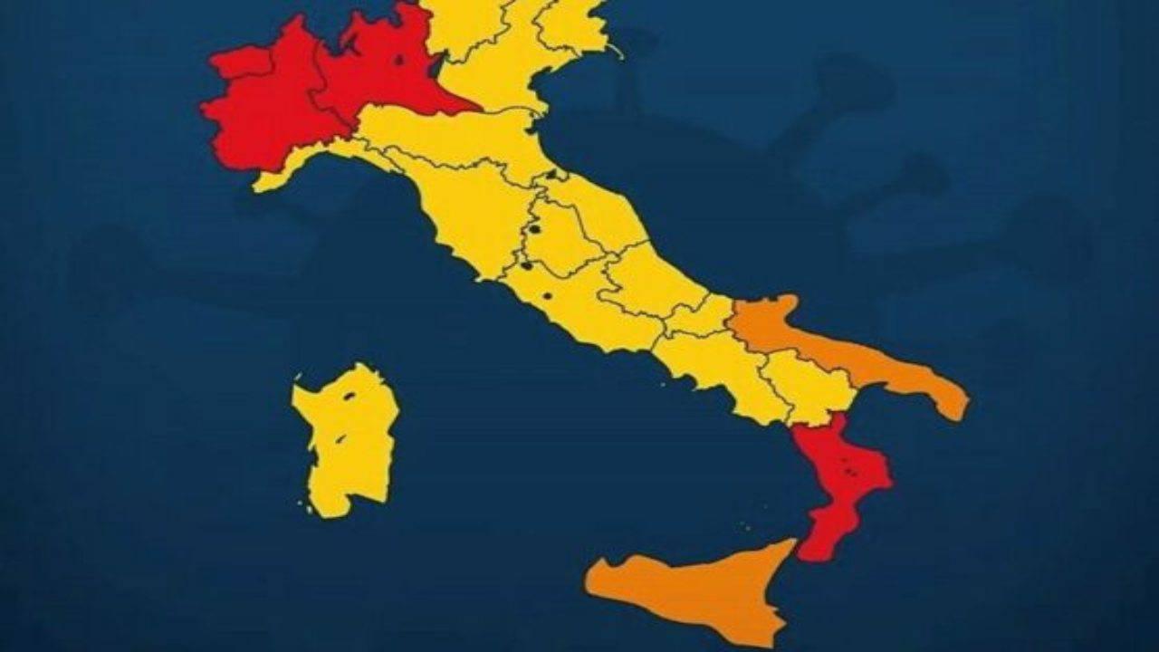 Nuovo cambio colore per le Regioni