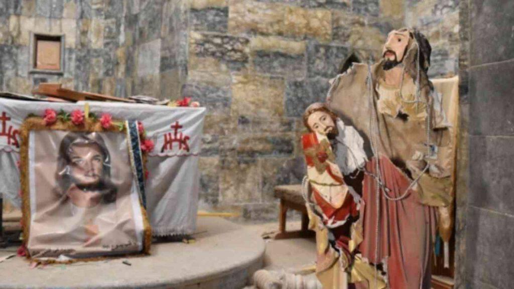 Natale siria altare guerra cristo