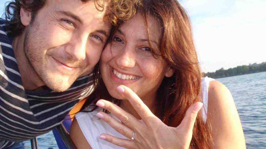 Stefano e Simonetta il giorno del loro fidanzamento (Lago di Bolsena, 6 agosto 2011)