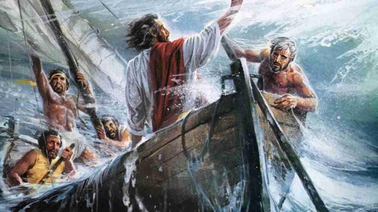 Gesù sulla barca: l'amore di Gesù scaccia il timore