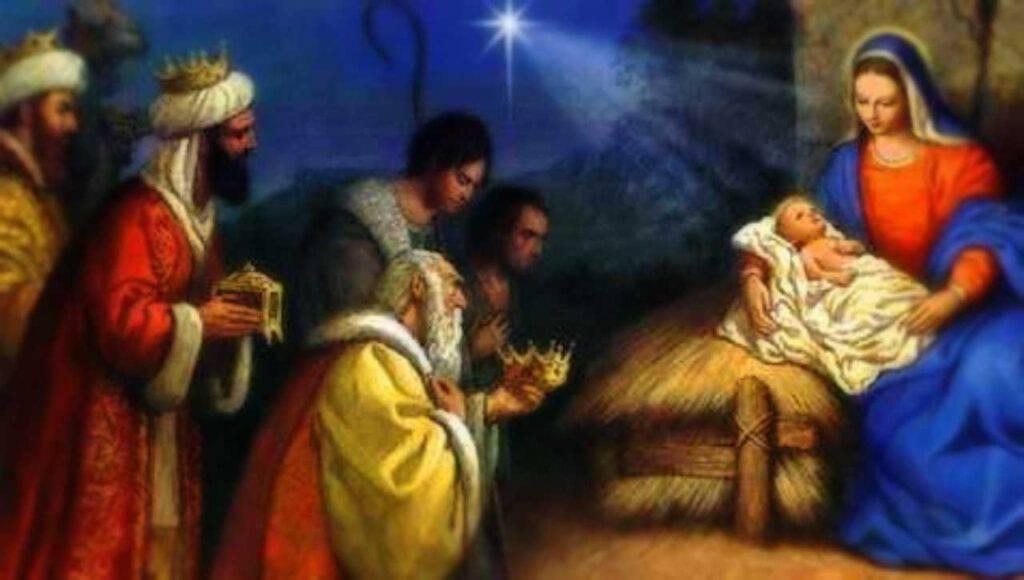 I Re Magi adorano Gesù Bambino