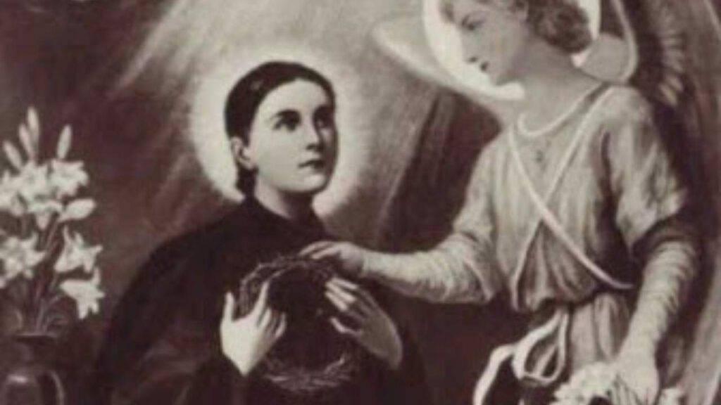 Santa Gemma Galgani con Angelo Custode