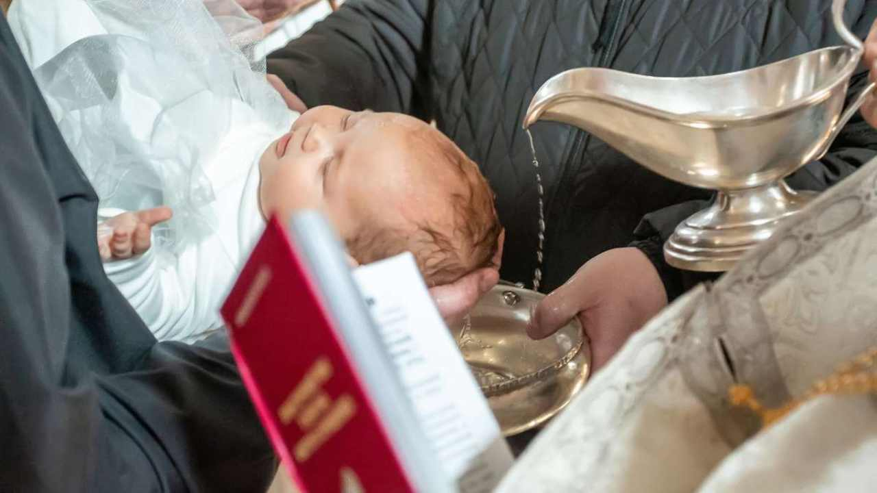 battesimo di un bambino