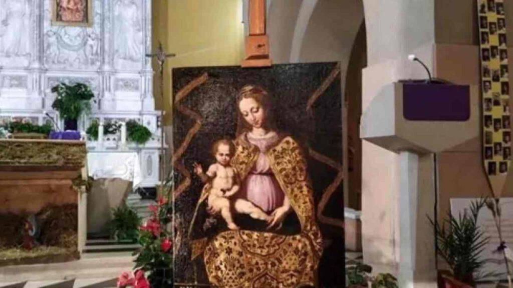 quadro madonna delle grazie chiesa Sampierdarena Genova