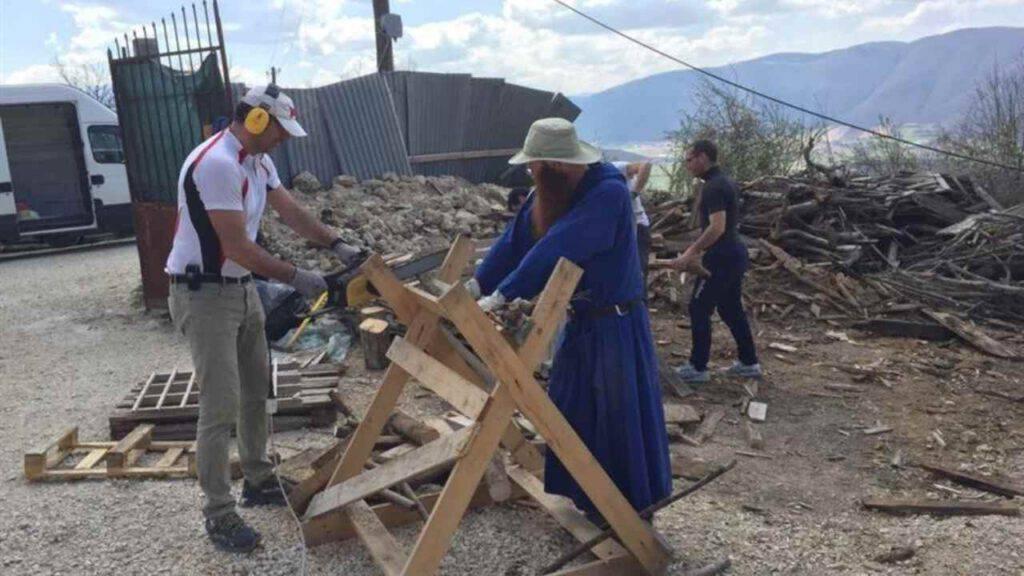 monaci norcia terremoto lavoro ricostruzione