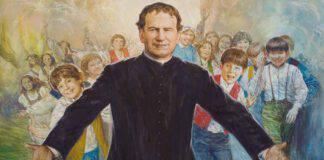 Don Giovanni Bosco con i giovani
