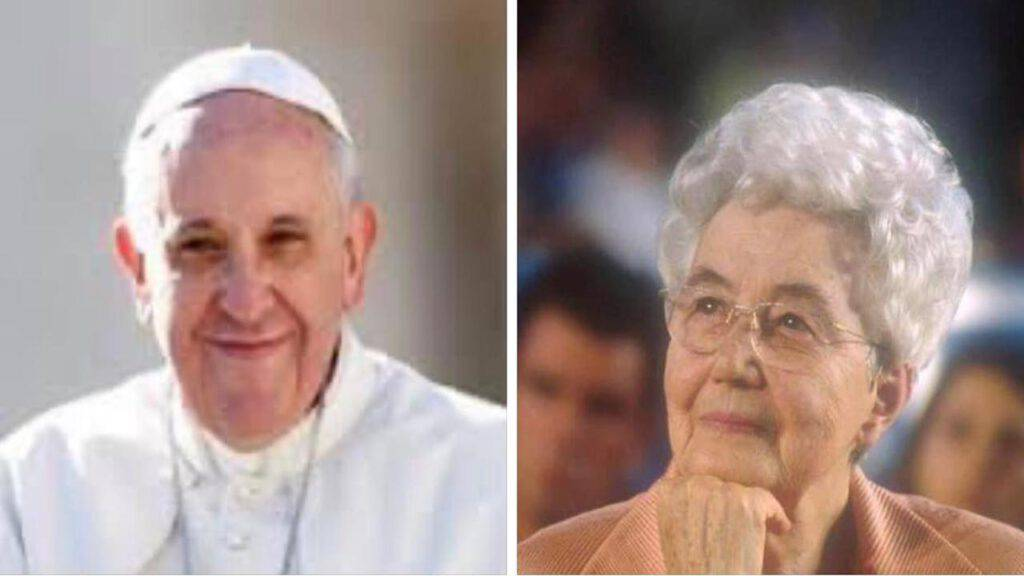 papa francesco e chiara lubich