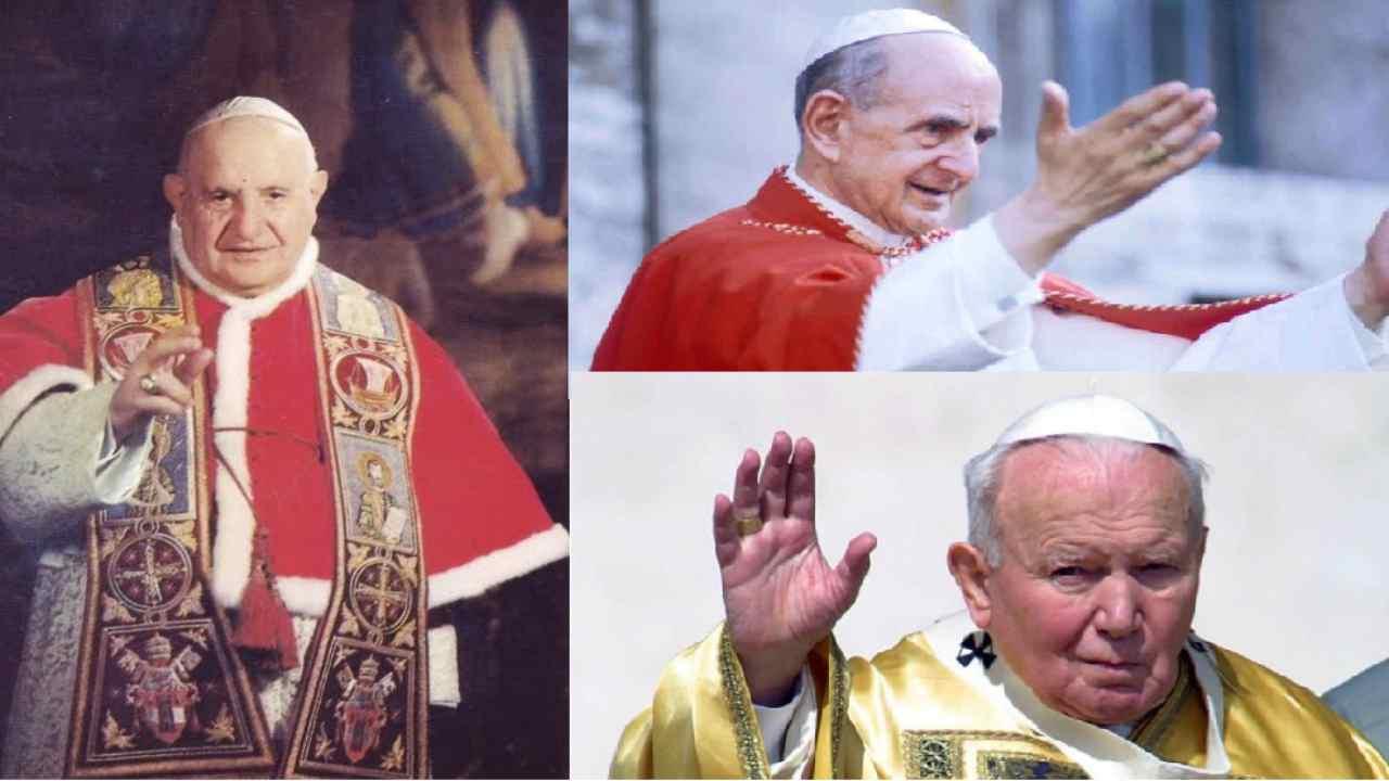 Giovanni XXIII, Paolo VI e Giovanni Paolo II