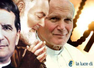 Rosario Don Bosco Padre Pio Papa Giovanni Paolo II
