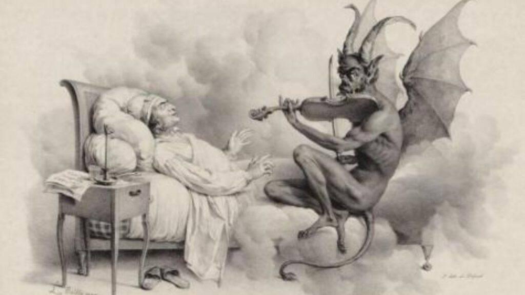 diavolo suona musica demoniaca nel sonno