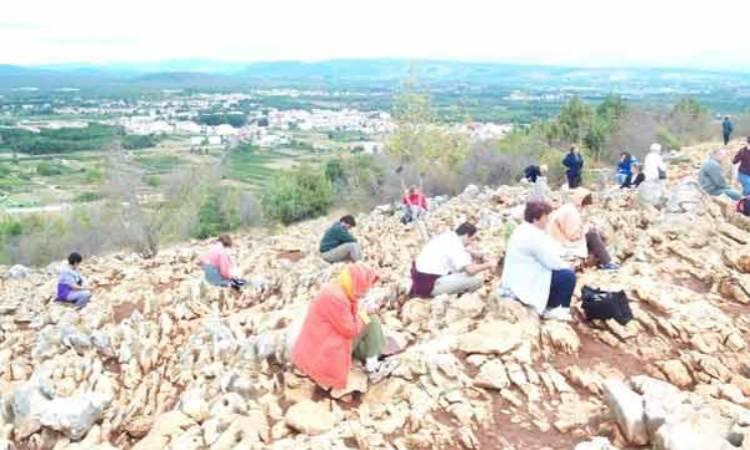salire sulla collina di Medjugorje