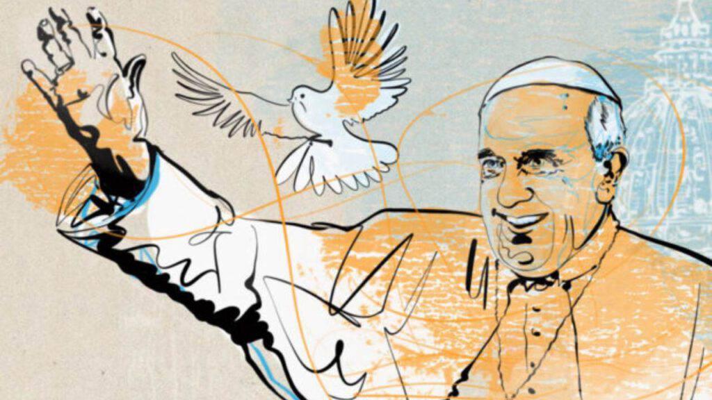 papa francesco pace colomba