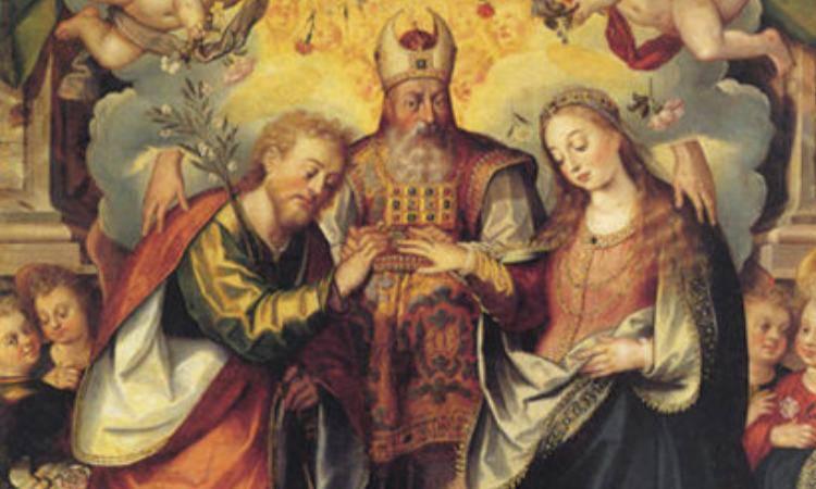 giuseppe dona il sacro anello a maria