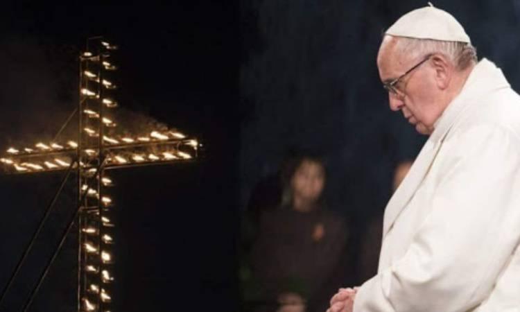 papa francesco alla via crucis