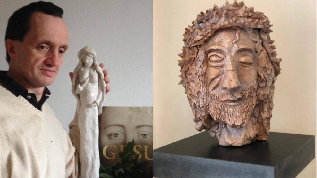 Andrea Bianco scultura Cristo Sindone