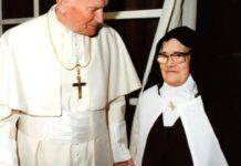 Lucia dos Santos e Papa Giovanni Paolo II