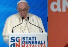 Papa Francesco Stati Generali della Natalità