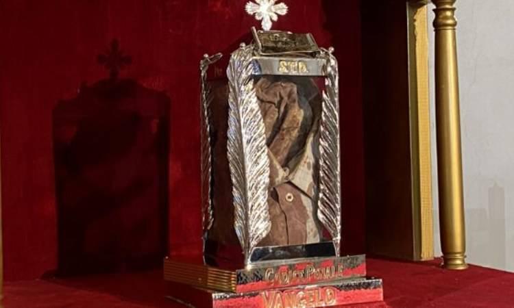 la camicia insanguinata, reliquia del Beato Livatino