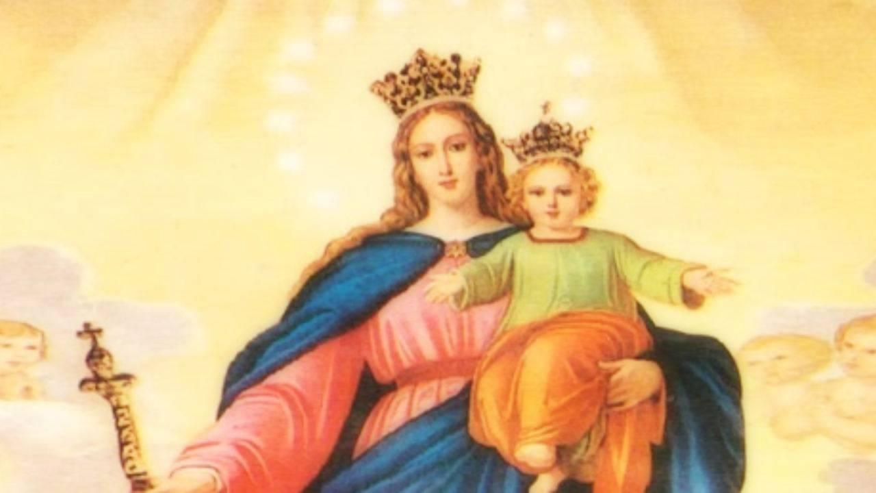 Maria Ausiliatrice e Gesù