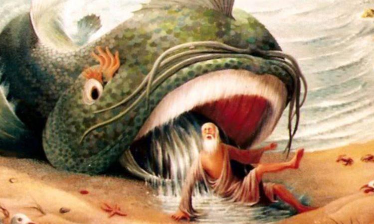 giona inghiottito dalla balena