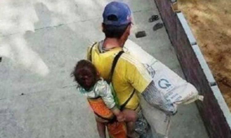 Papà e piccolo a lavoro