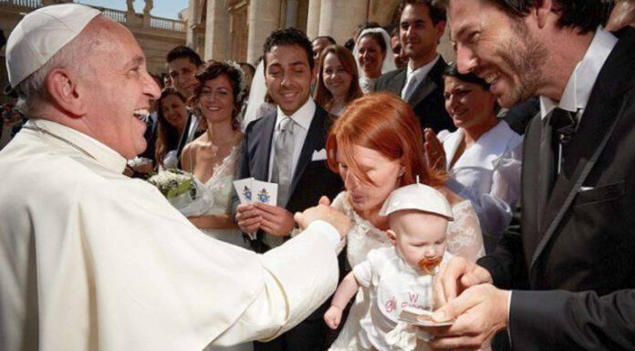 il papa e le famiglie