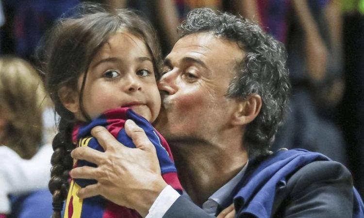 Luis Enrique e la piccola Xana