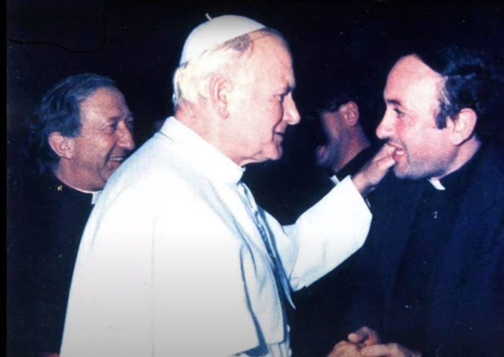 Don Tommaso Latronico con il Papa