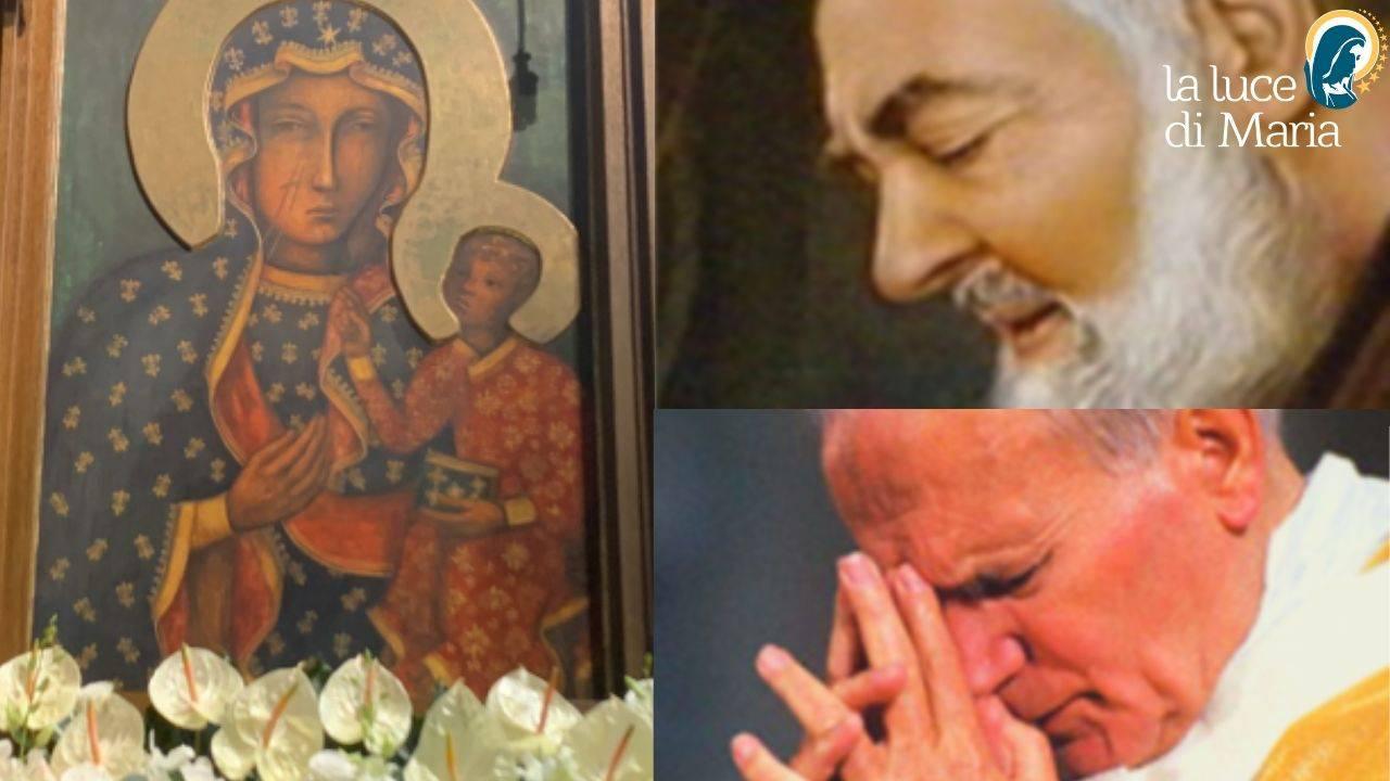 Padre Pio, Giovanni Paolo II e la Madonna di Czestochowa