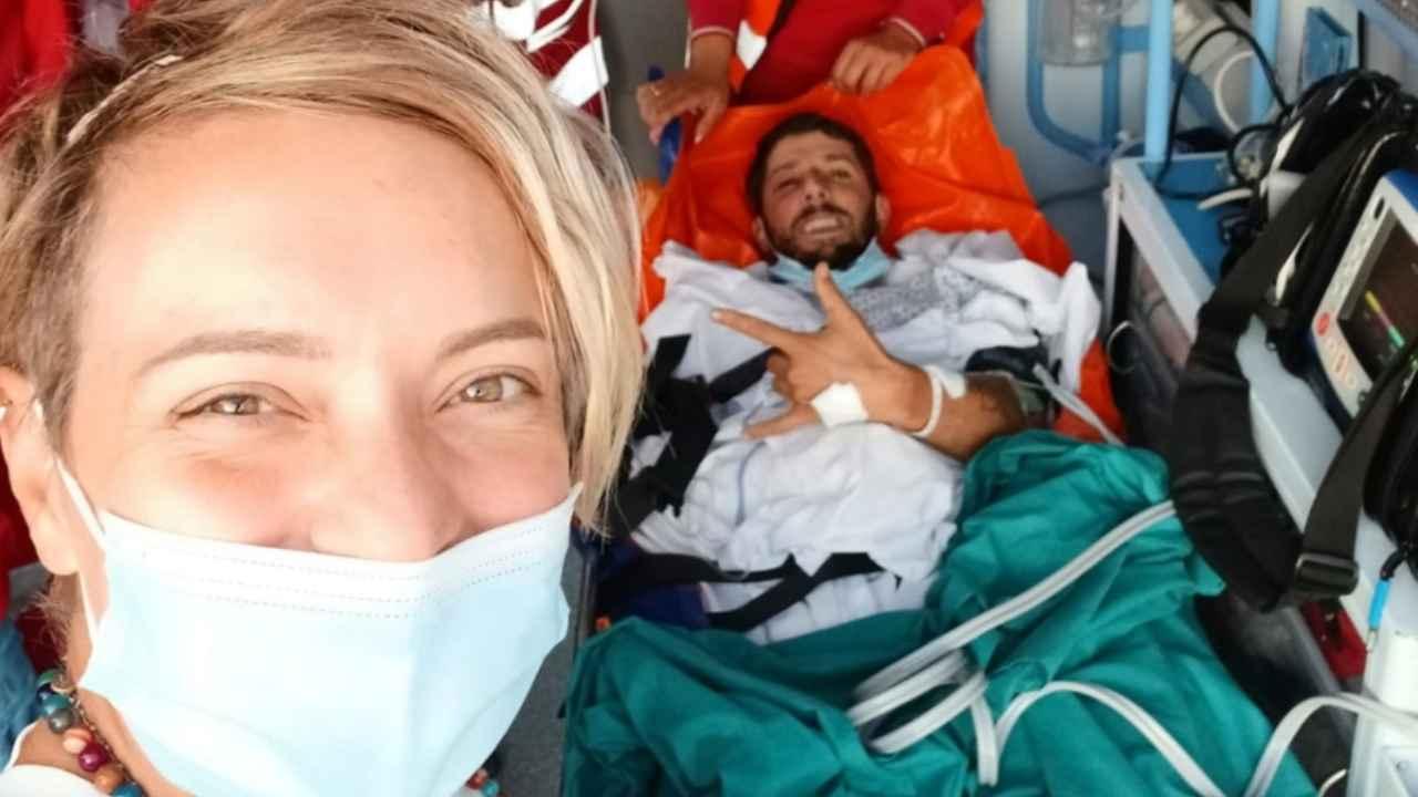 cristian in ambulanza