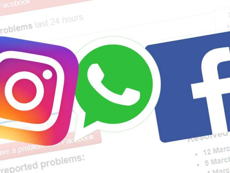 social in down facebook instagram whatsapp