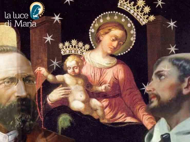 Madonna del Rosario di Pompei con Bartolo Longo e il Beato Alano